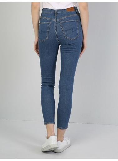 Colin's 760 Dıana Super Slim Fit Orta Bel Skinny Leg Kadın Jean Pantolon Mavi